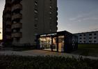 Kontener spożywczy w Poznaniu - czarna bryła pojawiła się na osiedlu
